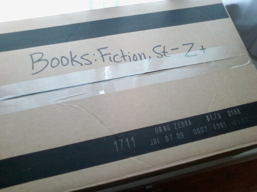 moving box of books