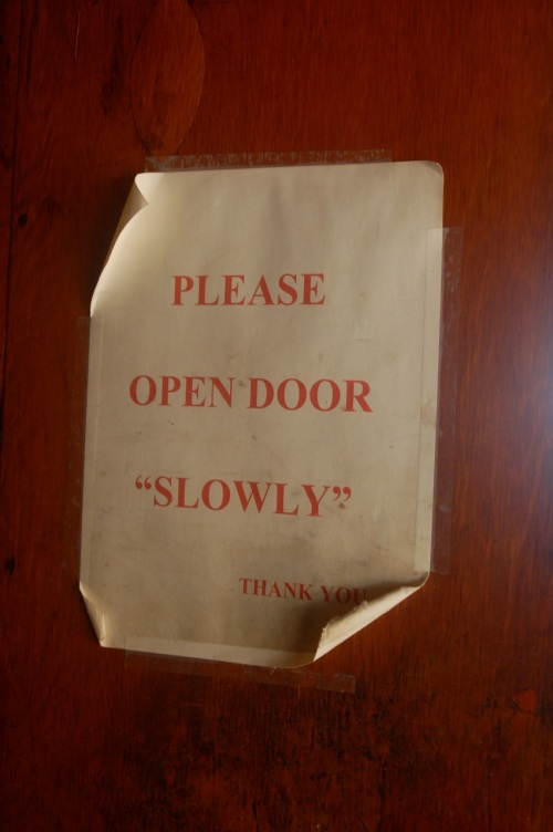 please open door slowly
