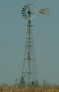 Taken in rural central Nebraska. Windmills are common sites on Midwestern farmland.