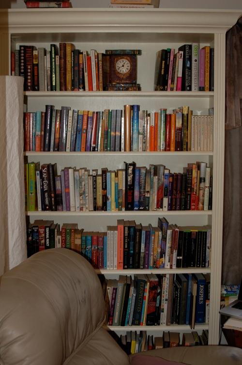 left bookshelf