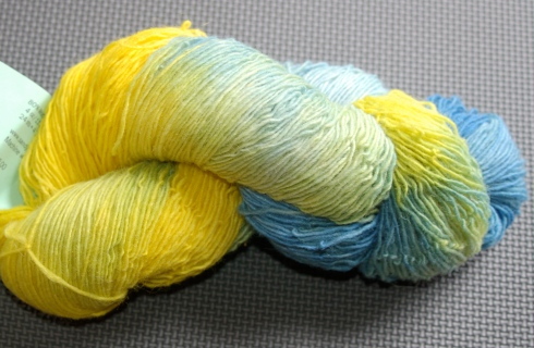 Wool/nylon blend sock yarn singles