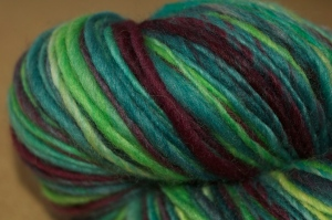 Handspun, thick and thin singles, BFL