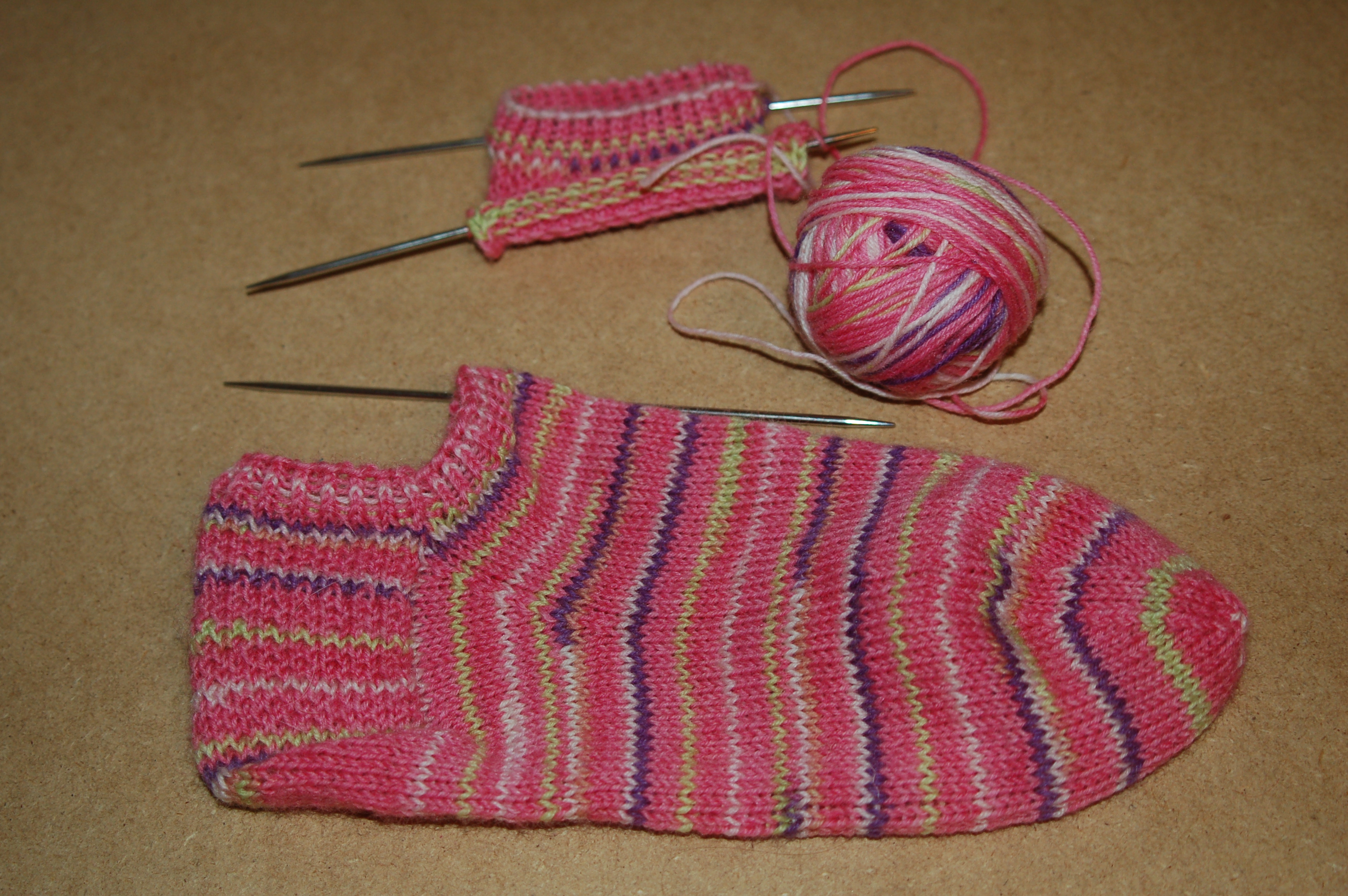 Knitting Socks On Circular Needles Pattern : Easy Free Sock Pattern   Catalog of Patterns