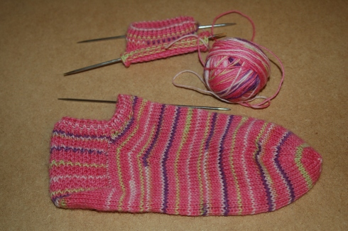 Short sock knitting