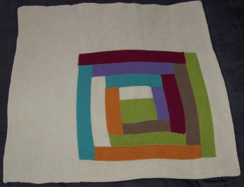 Asymmetrical Log Cabin Baby Blanket