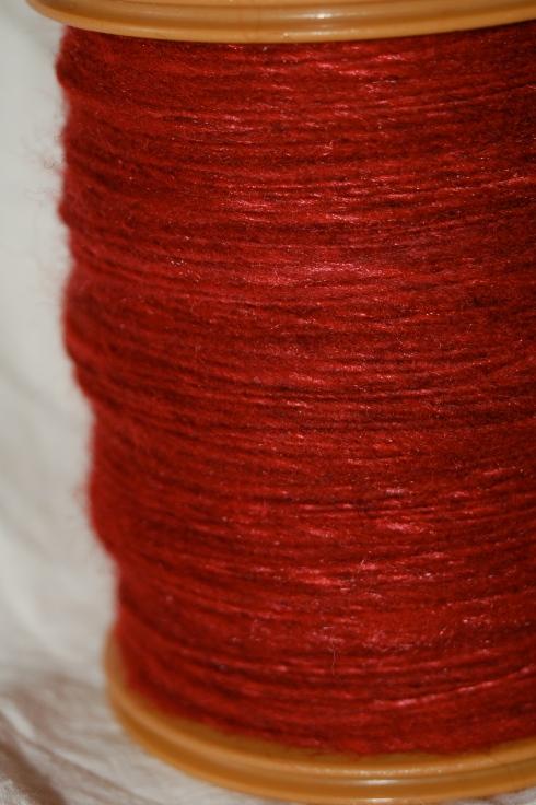 handspun wool-silk blend