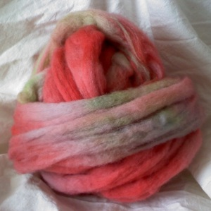 I kettle dyed this wool with Kool-Aid.