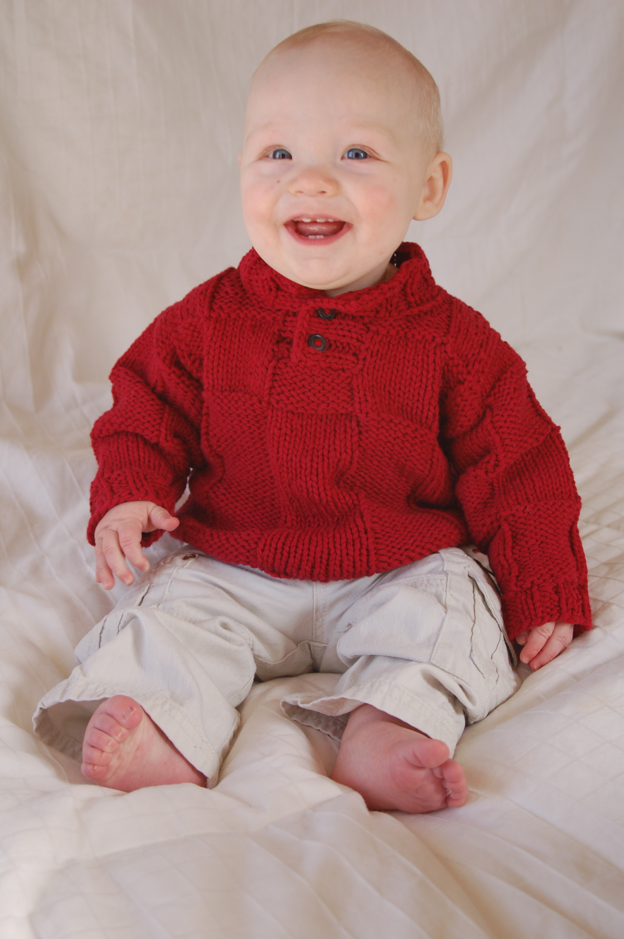 Baby in Red (sweater) | Word Lily