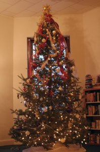 Our Christmas tree in 2009. (Click to enlarge)